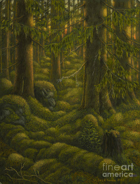 Mossy Wall Art - Pastel - The Old Forest by Veikko Suikkanen