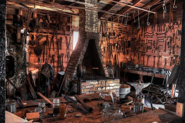 Photograph - The Old Forge by David Matthews
