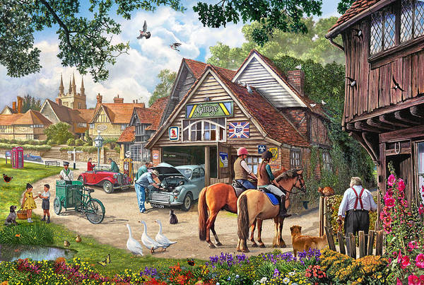 Wall Art - Painting - The Old Garage by MGL Meiklejohn Graphics Licensing
