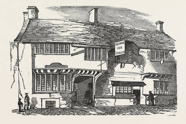 Old Style Drawing - The Old George Inn, Yeovil by English School