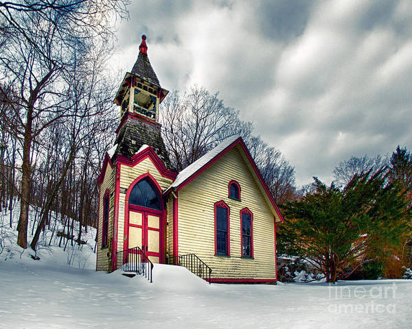 Photograph - The Old Hewitt Methodist Church by Mark Miller