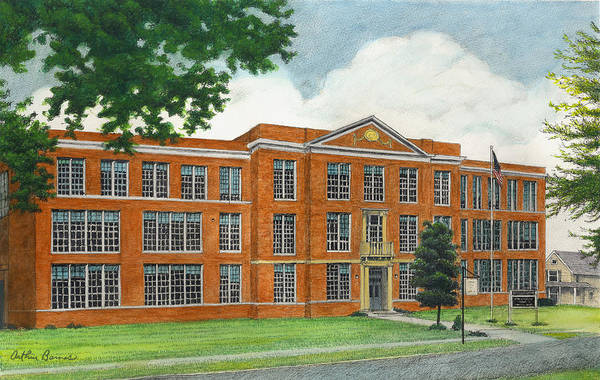 Medina Wall Art - Painting - The Old High School by Arthur Barnes
