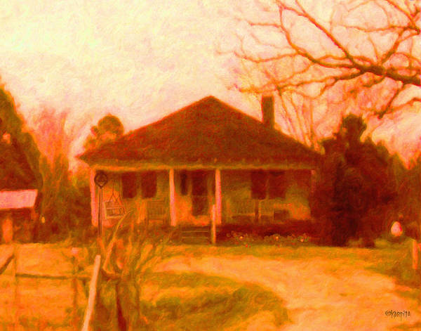 Porch Painting - The Old Home Place by Rebecca Korpita