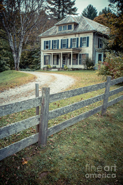 Driveway Photograph - The Old House On The Hill  by Edward Fielding