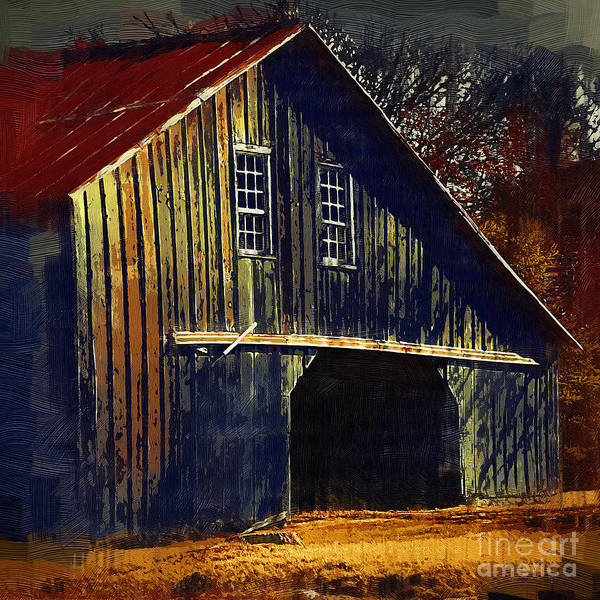 Digital Art - The Old Iowa Hay Barn by Kirt Tisdale
