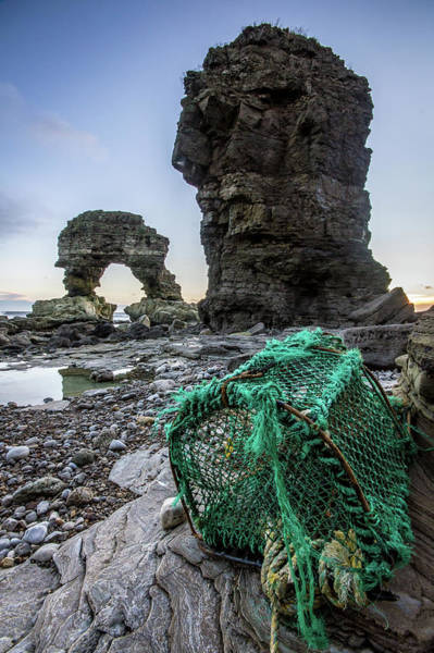 Trapped Photograph - The Old Man Of Whitburn And The Wrong by Richard Goddard