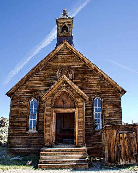 Bodie Ghost Town Wall Art - Photograph - The Old Methodist Church - Front View by Lana Trussell