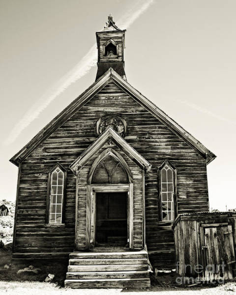 Bodie Ghost Town Wall Art - Photograph - The Old Methodist Church by Lana Trussell