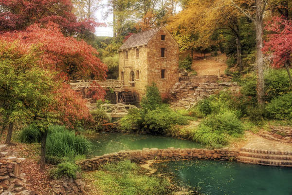 Photograph - The Old Mill In Autumn - Arkansas - North Little Rock by Jason Politte