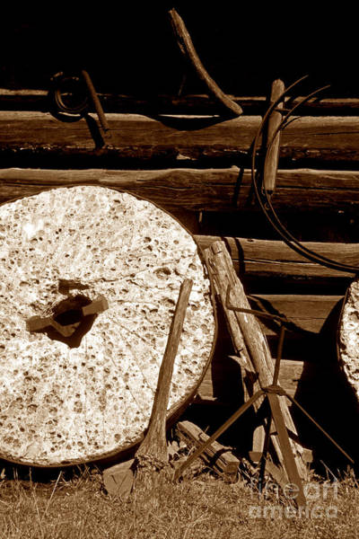 Wall Art - Photograph - The Old Mill Stone by Paul W Faust -  Impressions of Light