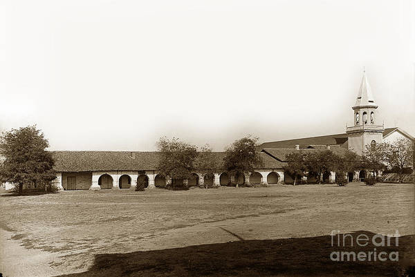 Photograph - The Old Mission San Juan Bautista Circa 1907 by California Views Archives Mr Pat Hathaway Archives