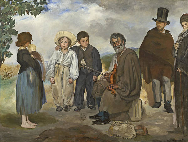 Busker Wall Art - Painting - The Old Musician by Edouard Manet