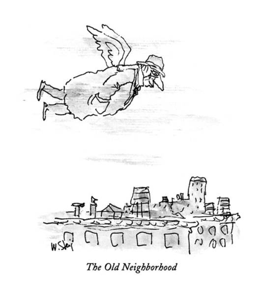 Tear Drawing - The Old Neighborhood by William Steig