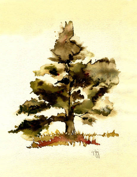 Painting - The Old Oak Tree by Paul Gaj