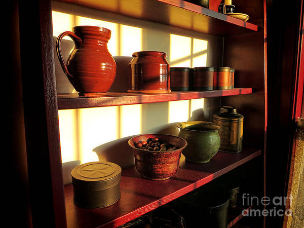Shelves Photograph - The Old Pantry by Olivier Le Queinec