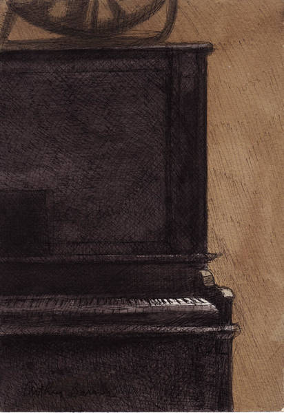 Piano Bar Painting - The Old Piano by Arthur Barnes