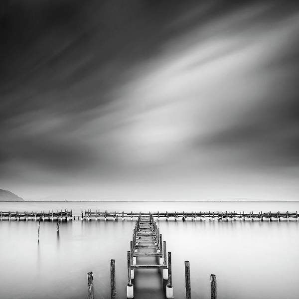 Wooden Bridge Photograph - The Old Pier by George Digalakis