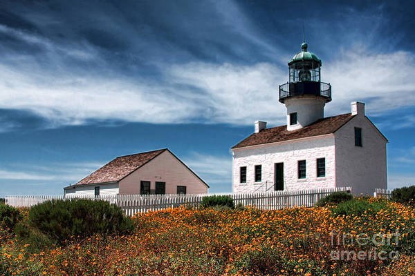 Photograph - The Old Point Loma Lighthouse By Diana Sainz by Diana Raquel Sainz