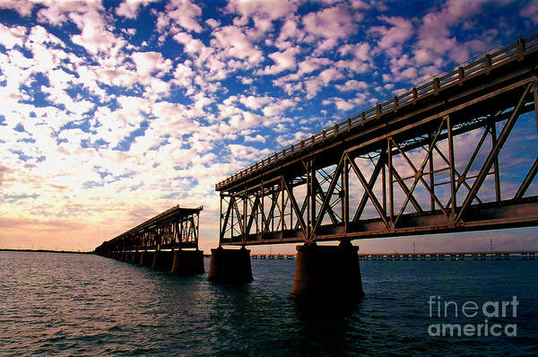 Photograph - The Old Rail Road Bridge In The Florida Keys 2 by Susanne Van Hulst