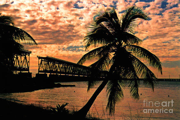 Photograph - The Old Rail Road Bridge In The Florida Keys by Susanne Van Hulst