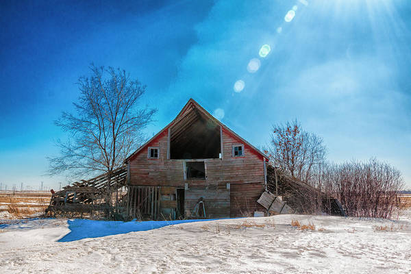 Christy Photograph - The Old Red Barn by Christy Patino
