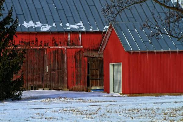 Photograph - The Old Red Barn In Winter by Dan Sproul