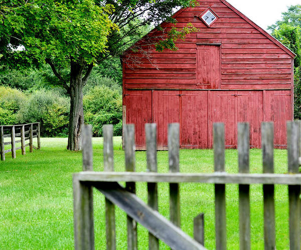 New England Barn Photograph - The Old Red Barn by Laura Fasulo
