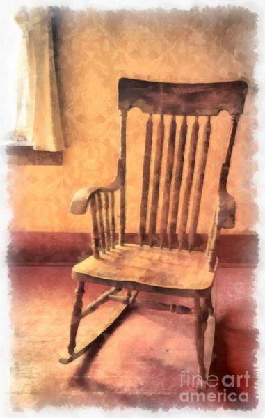 Rocking Chair Wall Art - Photograph - The Old Rocker by Edward Fielding