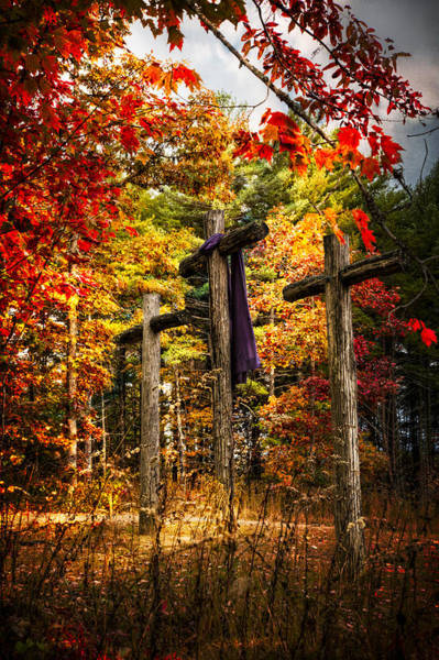 Cemetery Ridge Photograph - The Old Rugged Cross by Debra and Dave Vanderlaan