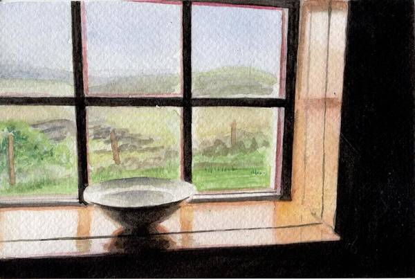 Donegal Painting - The Old Schoolhouse Window by Virginia Neuman