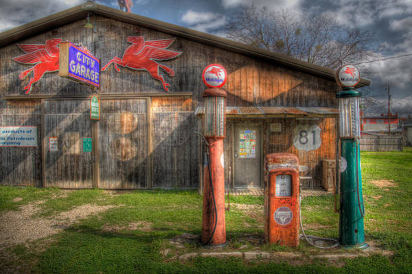 Gas Photograph - The Old Service Station by David and Carol Kelly