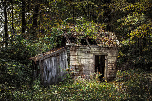Photograph - The Old Shack In The Woods - Autumn At Long Pond Ironworks State Park by Gary Heller