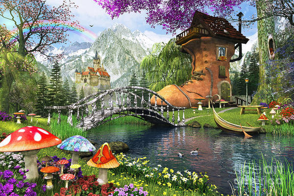 Mounted Digital Art - The Old Shoe House by MGL Meiklejohn Graphics Licensing