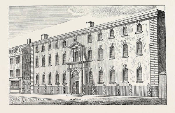 Old Style Drawing - The Old South Sea House London by English School