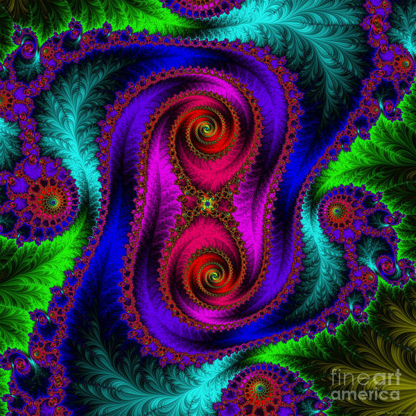 Mural Digital Art - The Old Stuffed Chair - Fractal by Mary Machare