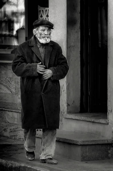 Men Wall Art - Photograph - The Old Timer by Xenophon Mantinios