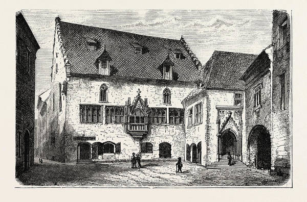 Old Style Drawing - The Old Town Hall At Ratisbon by English School