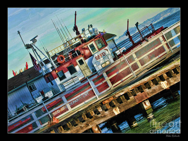 Photograph - The Old Tub San Francisco Fire Boat by Blake Richards