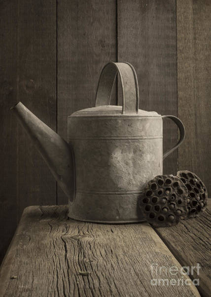 Tin Can Wall Art - Photograph - The Old Watering Can by Edward Fielding