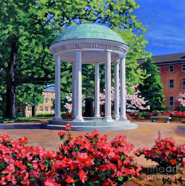 Chapels Painting - The Old Well - Springtime by David Gellatly