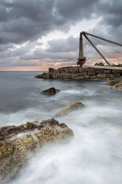 Wall Art - Photograph - The Old Winch At Portland by Chris Frost