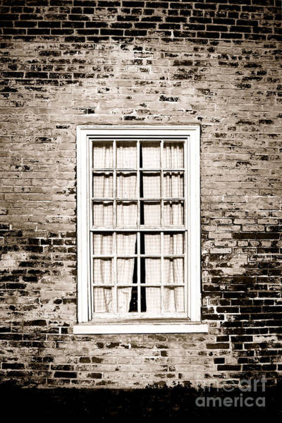 Brick House Photograph - The Old Window by Olivier Le Queinec