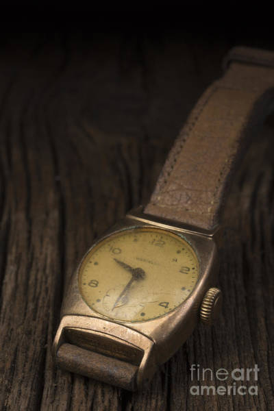 Photograph - The Old Wrist Watch by Edward Fielding