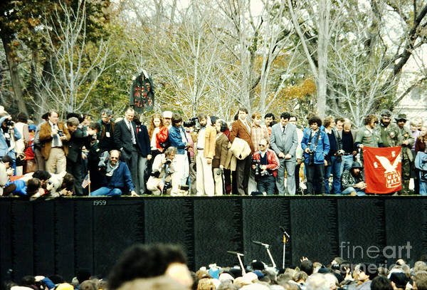 Photograph - The 1982 Opening And Dedication Of The Wall - 2 by Walter Neal