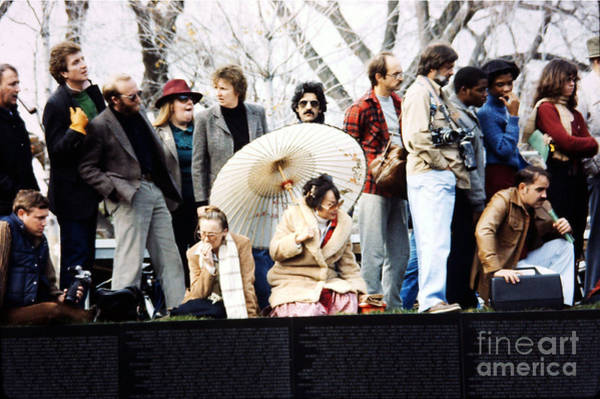 Photograph - The 1982 Opening And Dedication Of The Wall - 1 by Walter Neal