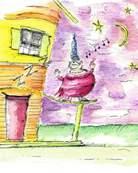 Drawing - The Opera Singer by Jason Nicholas