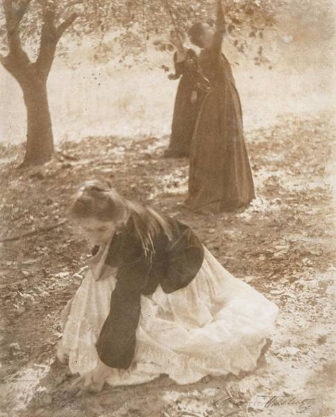 Wall Art - Photograph - The Orchard, 1902 Vintage Platinum Print by Clarence Henry White