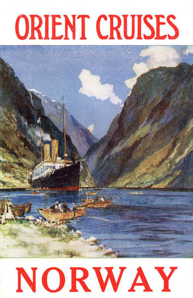 Fjord Drawing - The Orient Liner 'otranto' by Mary Evans Picture Library