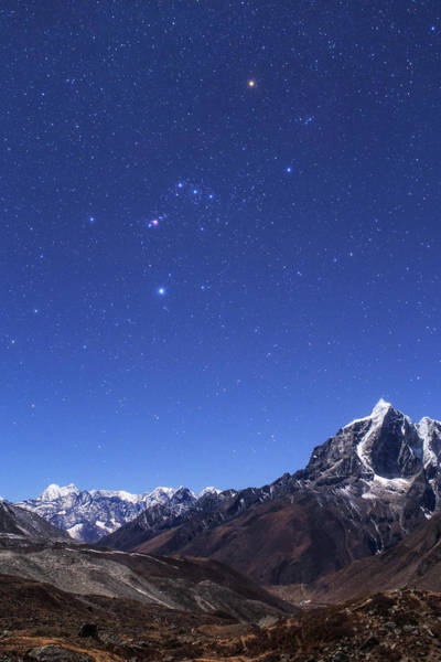 Wall Art - Photograph - The Orion Constellation by Jeff Dai