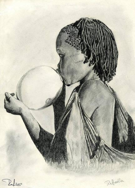 Drawing - The Ostrich Egg by Raffaella Lunelli